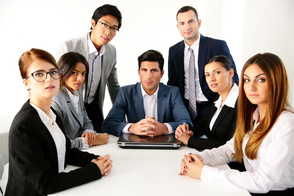 Group of businesspeople having meeting in the office
