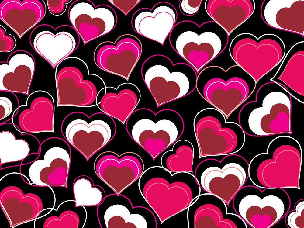 Group Of Heart Shape Background