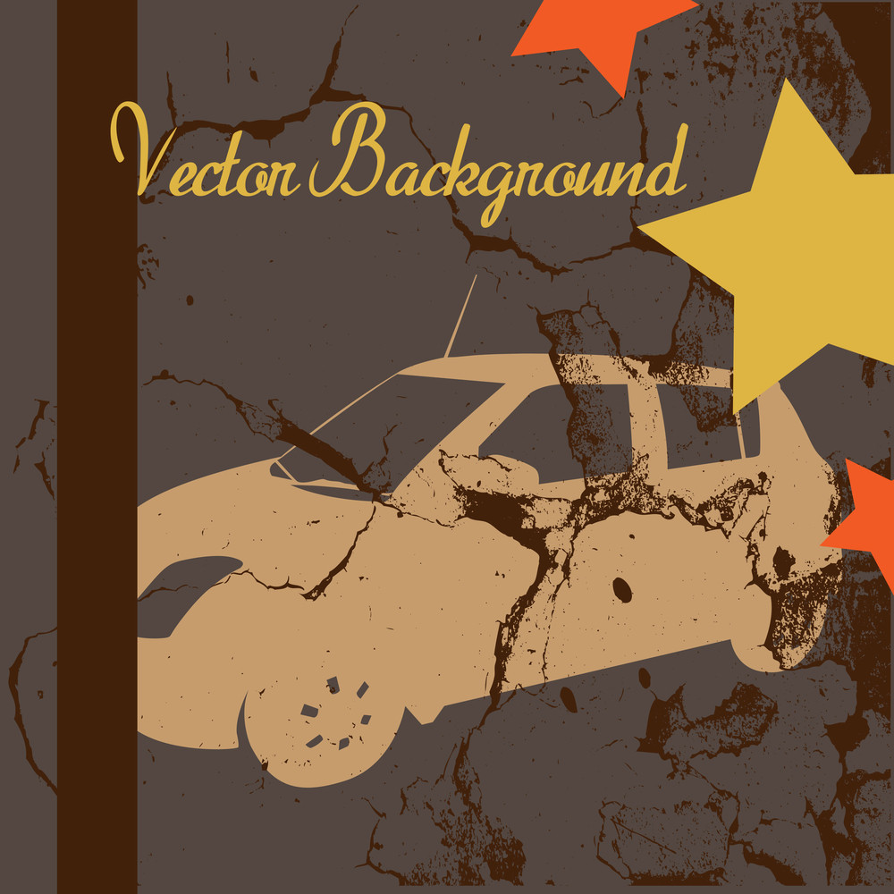 Grunge Abstract Car Background