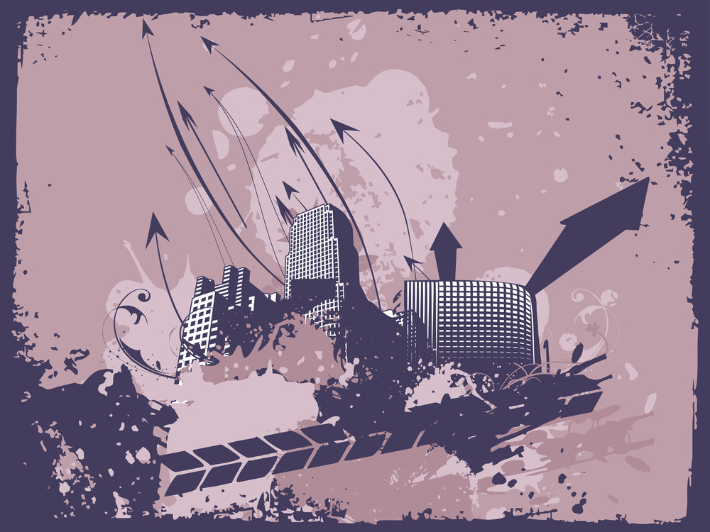 Grunge Arrows City Background Of