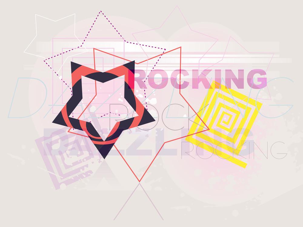 Grunge Background With Artwork