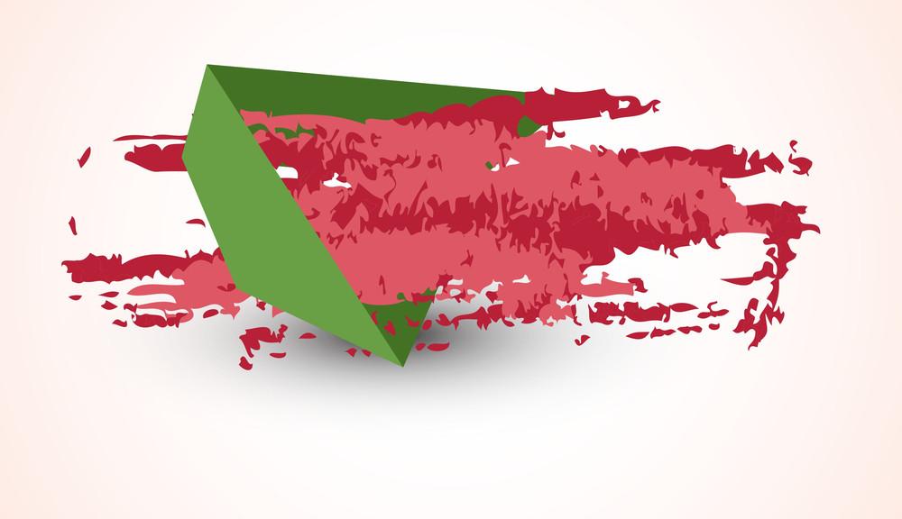 Grunge Banner Paper Element