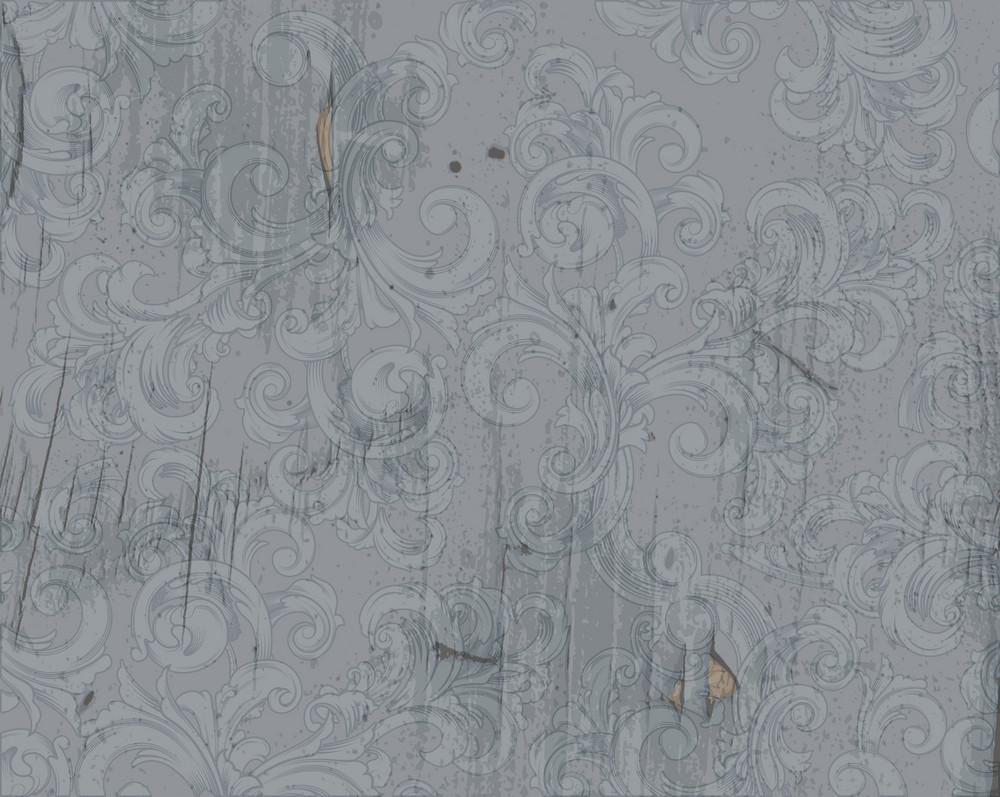 Grunge Baroque Wallpaper Vector Illustration