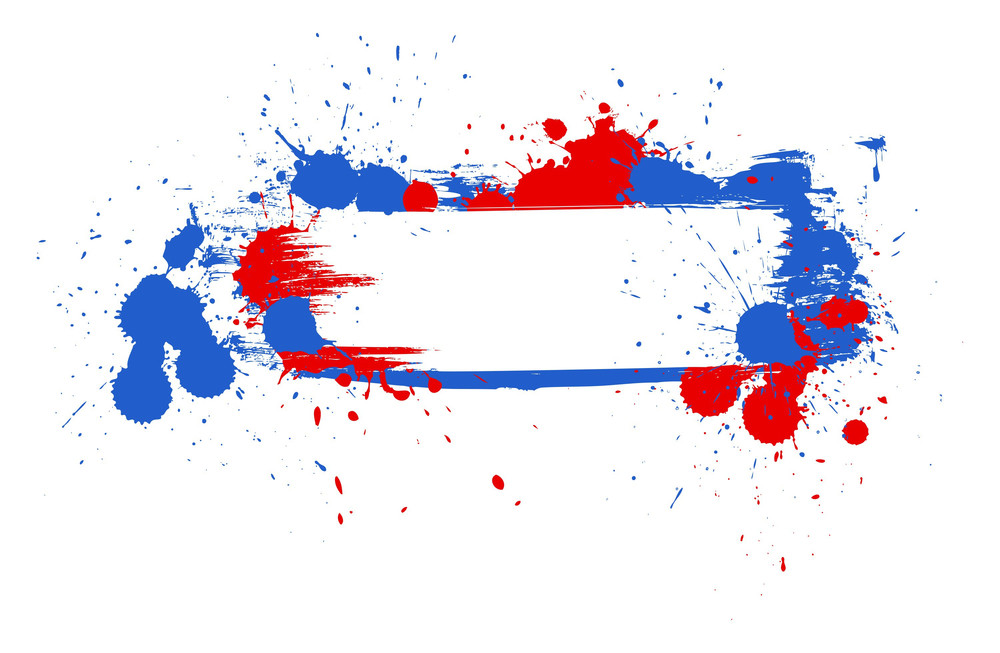 Grunge Brush Stains & Strokes Banner 4th Of July Vector Theme Design