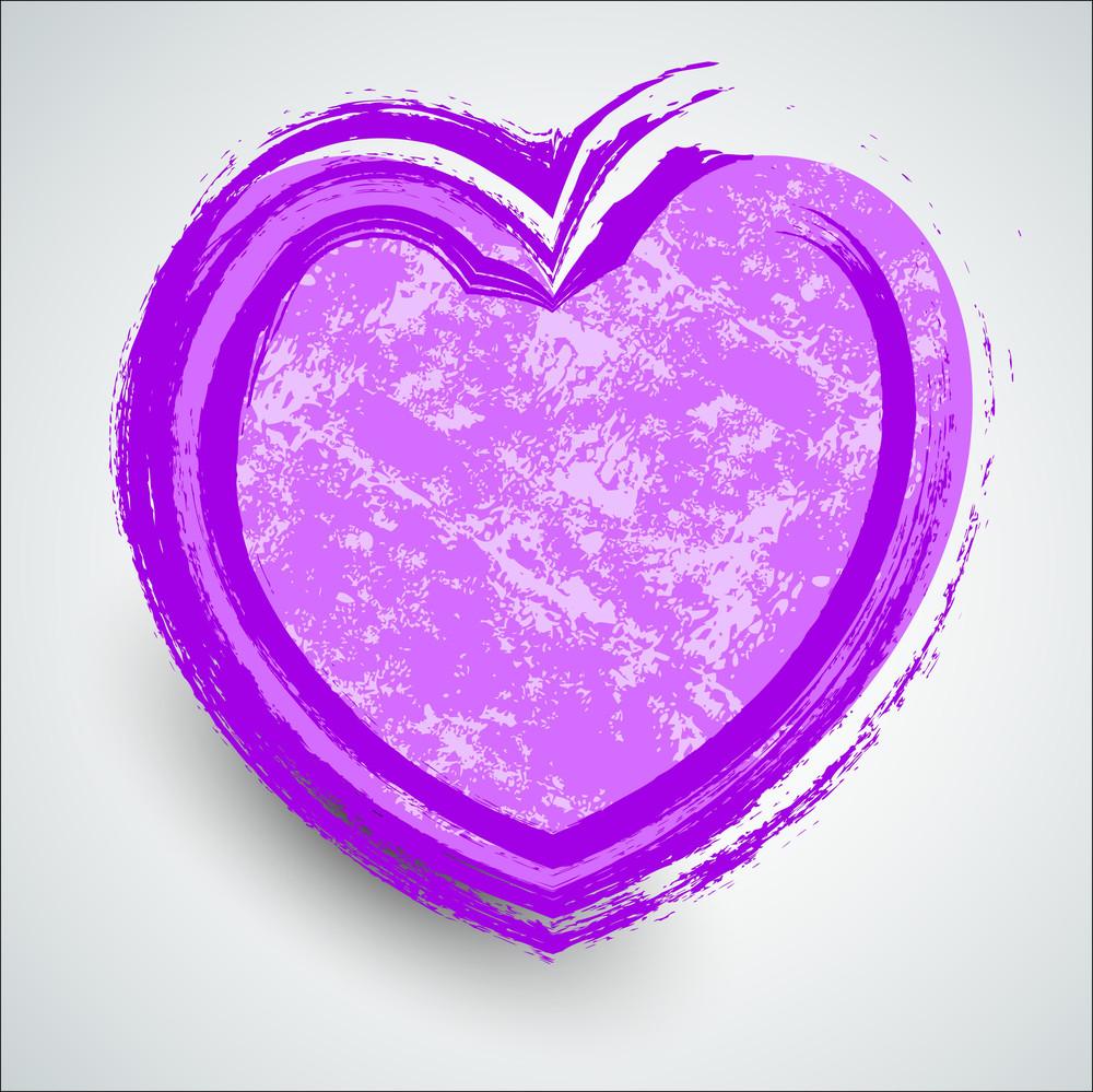 Grunge Brush Stroke Heart Banner
