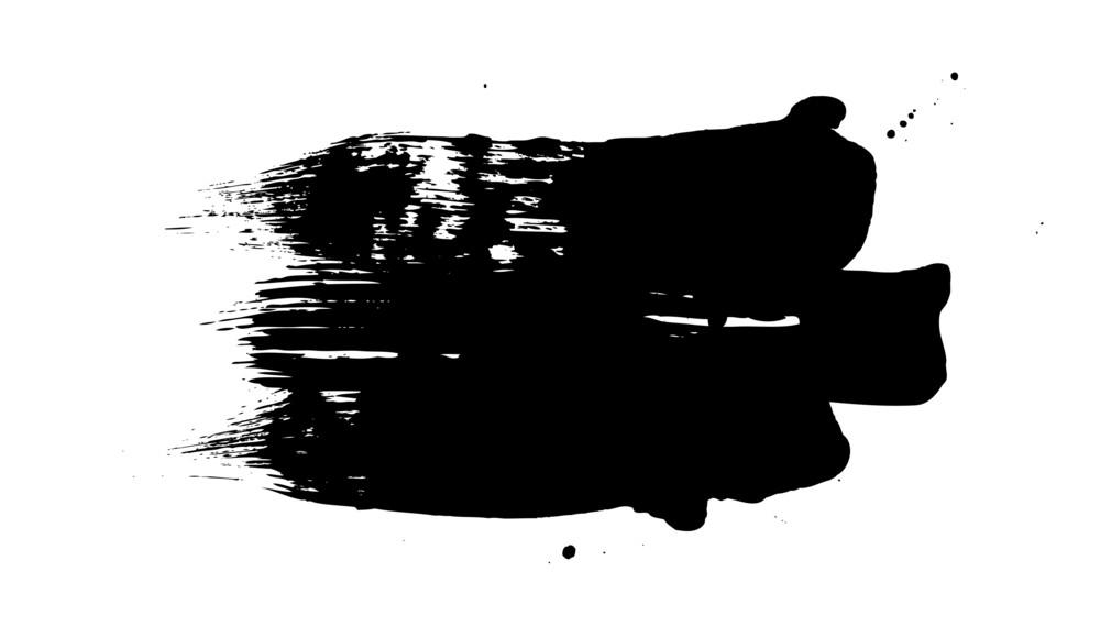 Grunge Brush Strokes Banner Shape