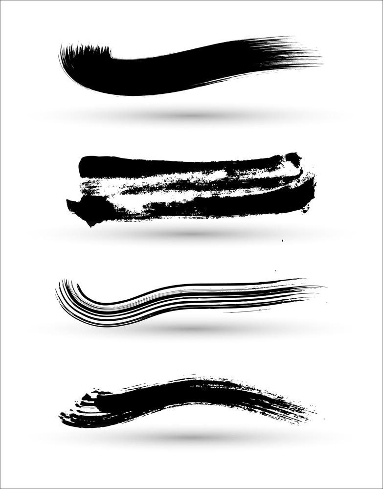 Grunge Brush Strokes Elements