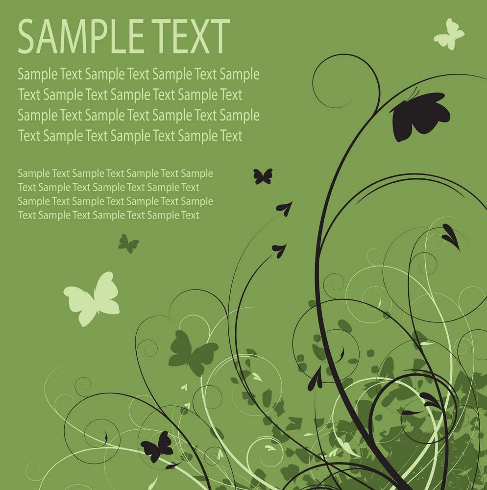 Grunge Butterflies Vector Background