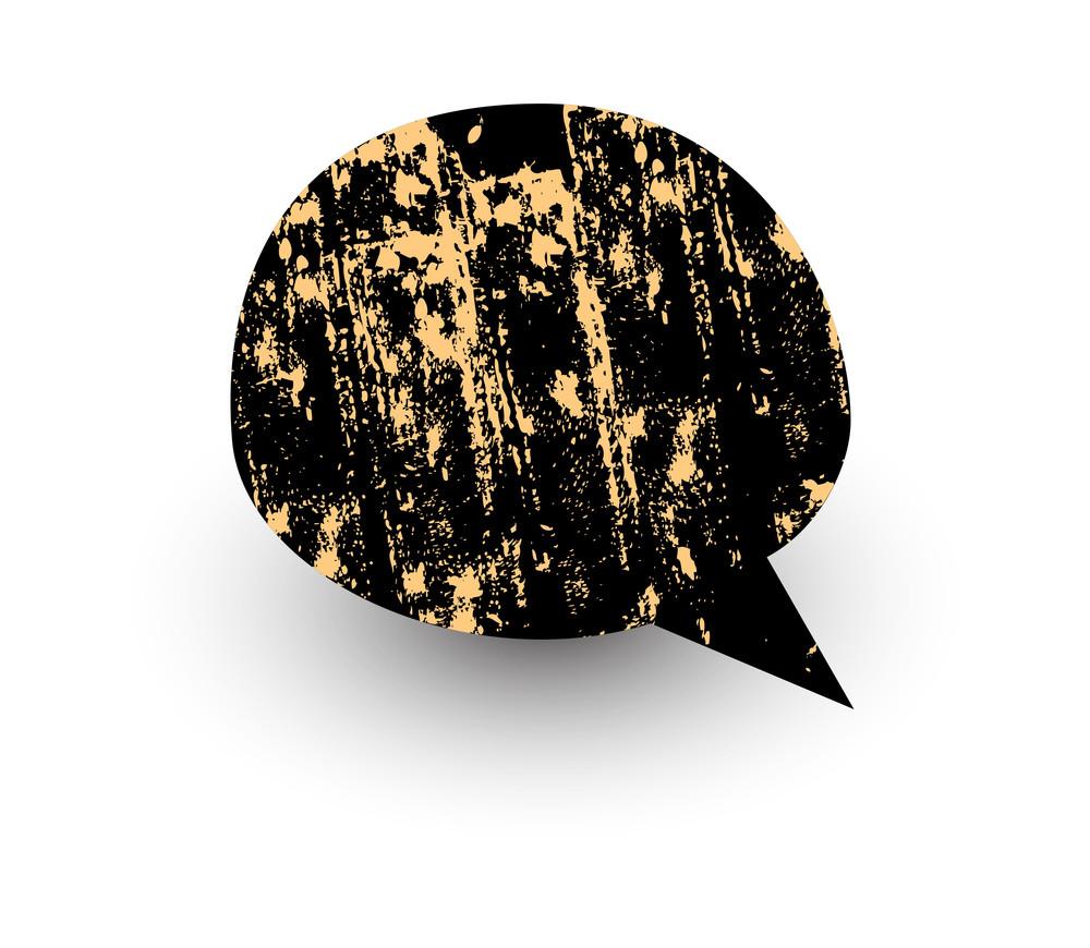 Grunge Chat Bubble
