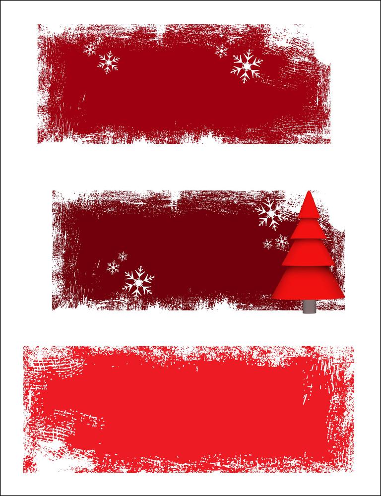 Grunge Christmas Banners