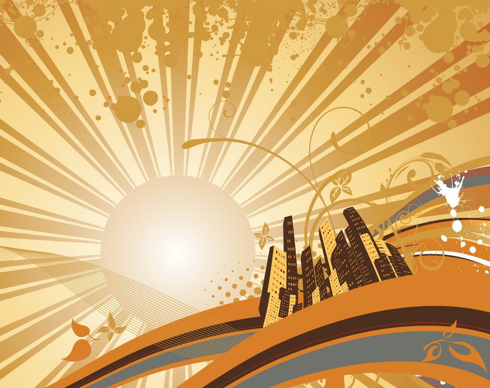 Grunge City Illustration