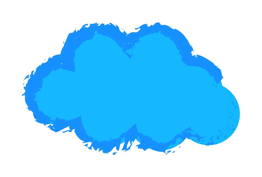 Grunge Cloud Shape