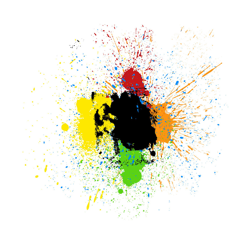 Grunge Colored Splash