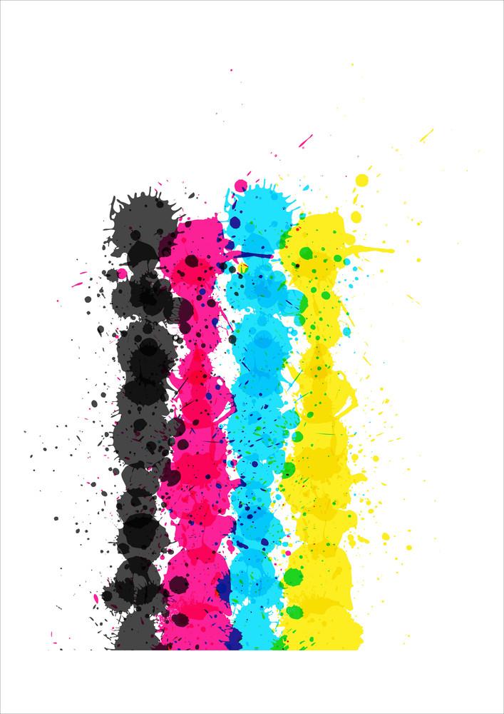 Grunge Colored Splashes Backdrop