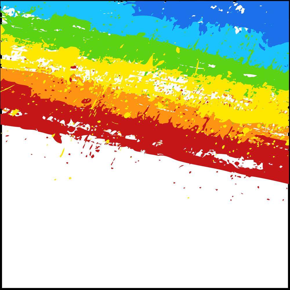 Grunge Colorful Rainbow Backdrop