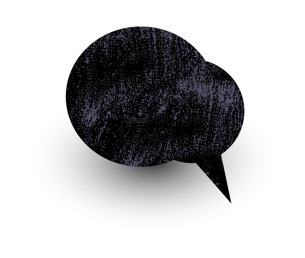 Grunge Comic Chat Bubble