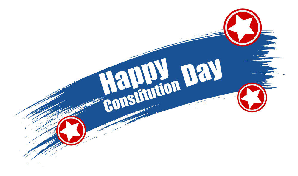 Grunge Constitution Day Vector Illustration