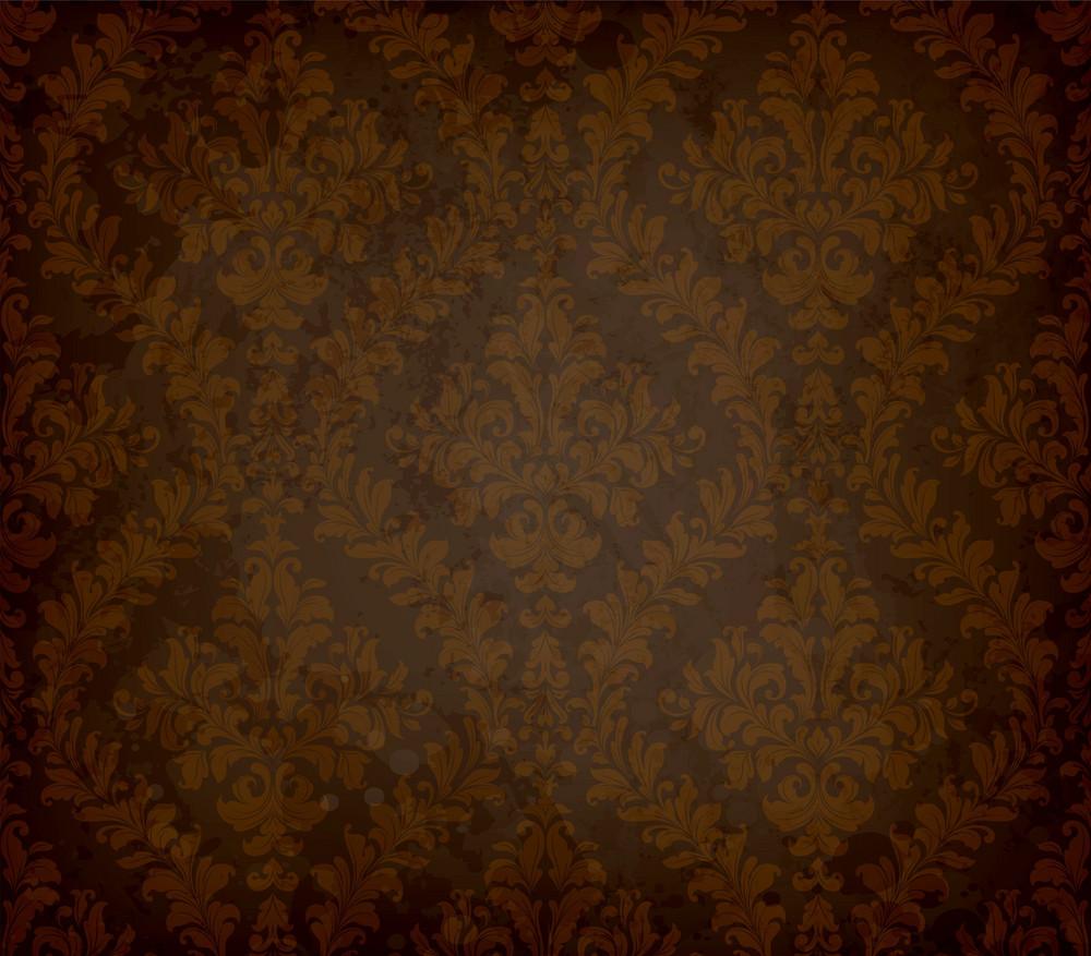 Grunge  Damask Background Vector Illustration