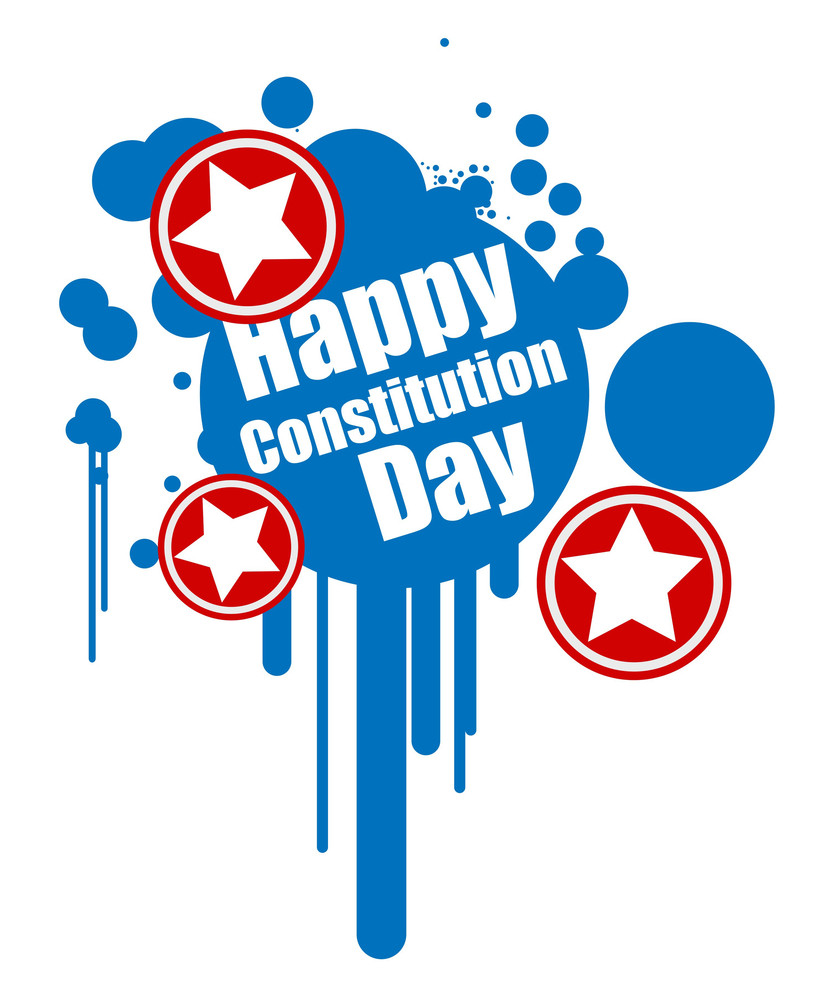 Grunge Design Constitution Day Vector Illustration