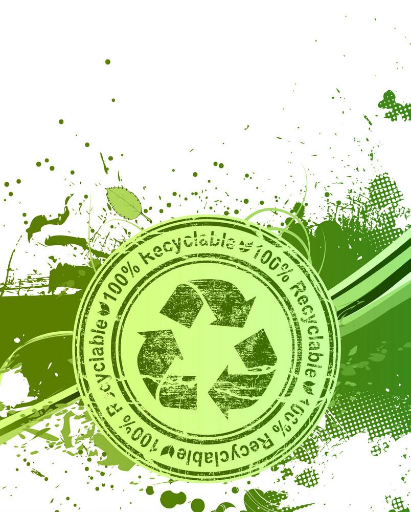 Grunge Eco Background Vector Illustration