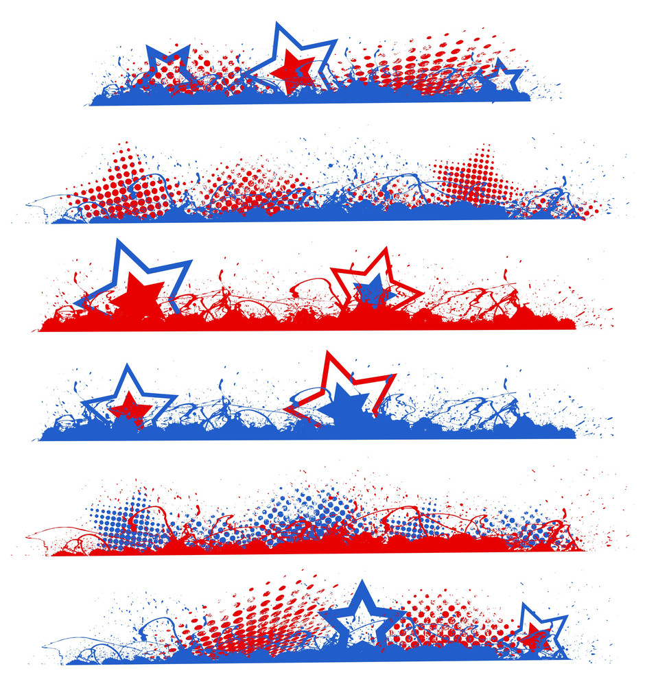 Grunge Edges Patriotic Usa Theme Vector