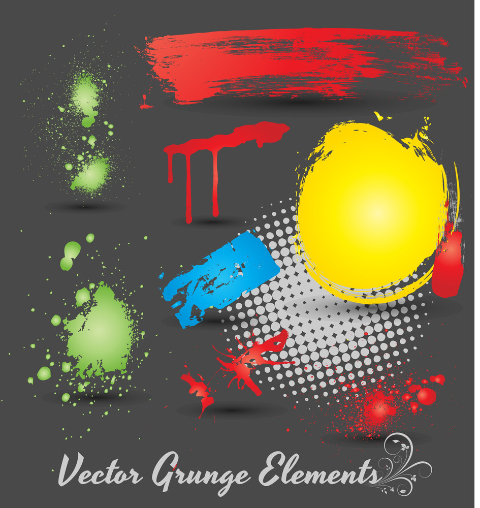 Grunge Elements Vectors
