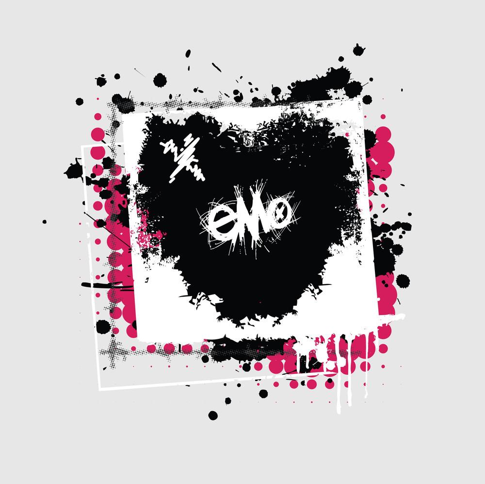 Grunge Emo Heart Design