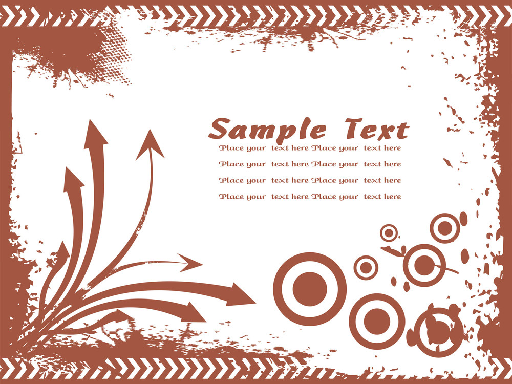 Grunge Fame With Arrow And Sample Text