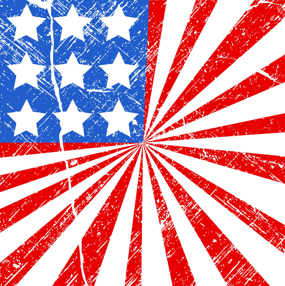 Grunge Flag Us 4th Of July Independence Day Vector Design