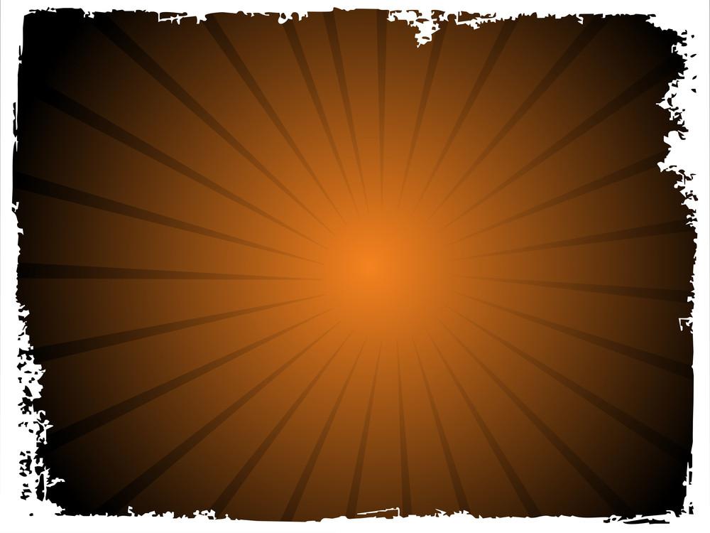 Grunge Frame Of Sunrays