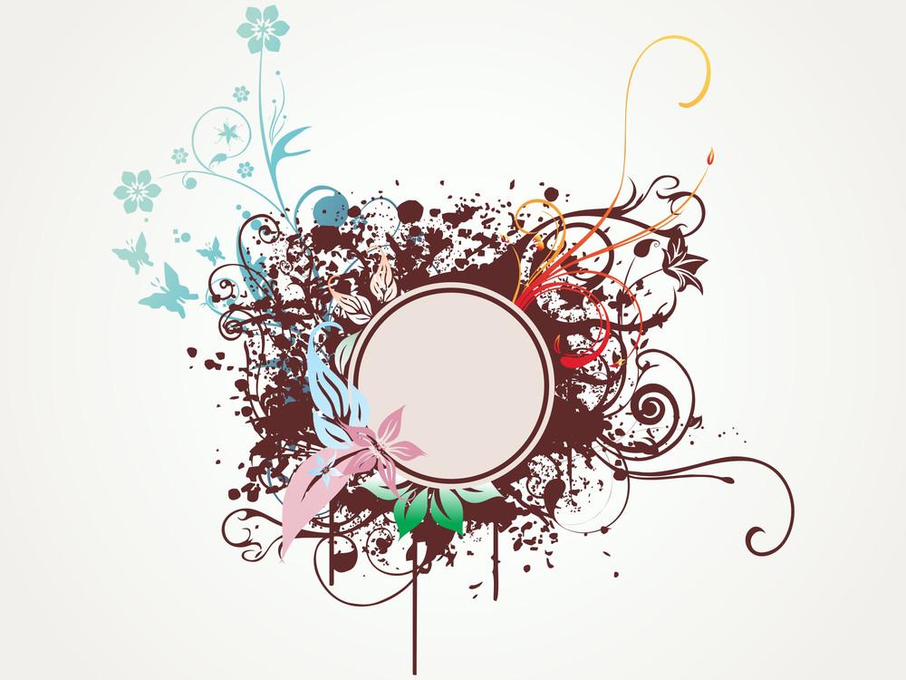 Grunge Frame With Artwork