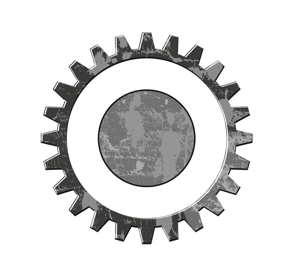 Grunge Gear Wheel Vector