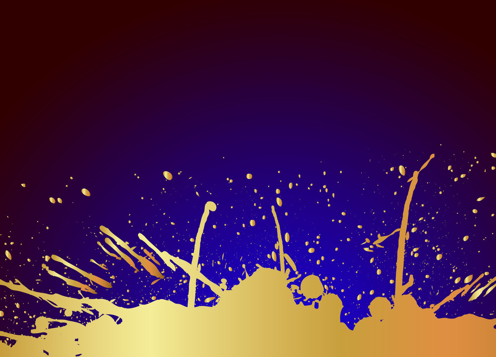 Grunge Golden Blot Background