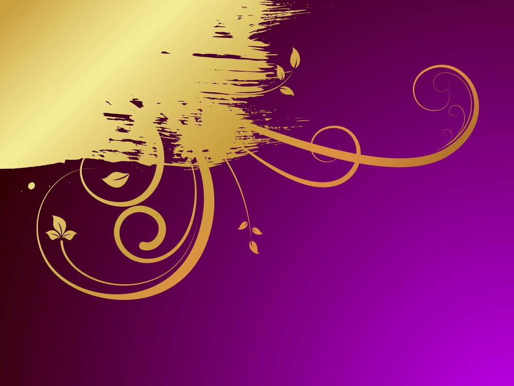 Grunge Golden Floral Backdrop