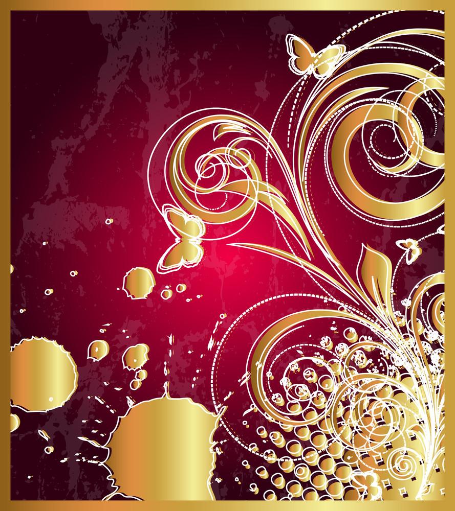 Grunge Golden Flourish