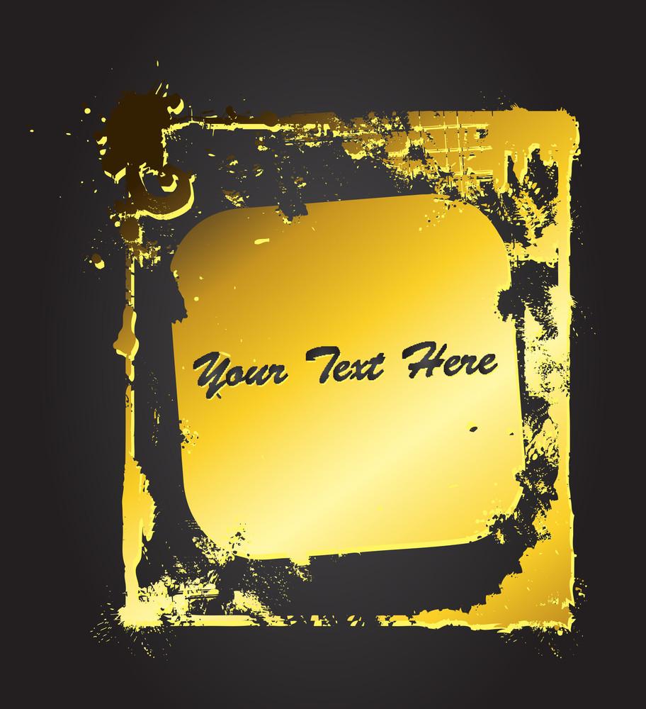Grunge Golden Frame