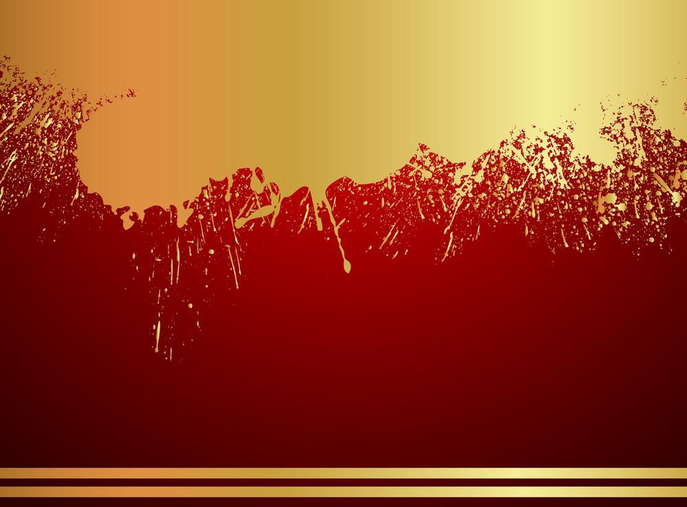 Grunge Golden Paint Scatter Background