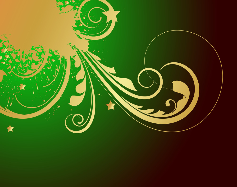 Grunge Golden Patrick's Day Floral Graphic