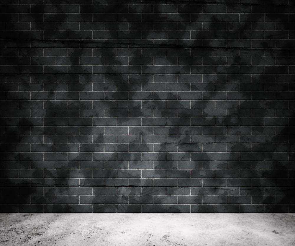 Grunge Gray Brick Wall Background