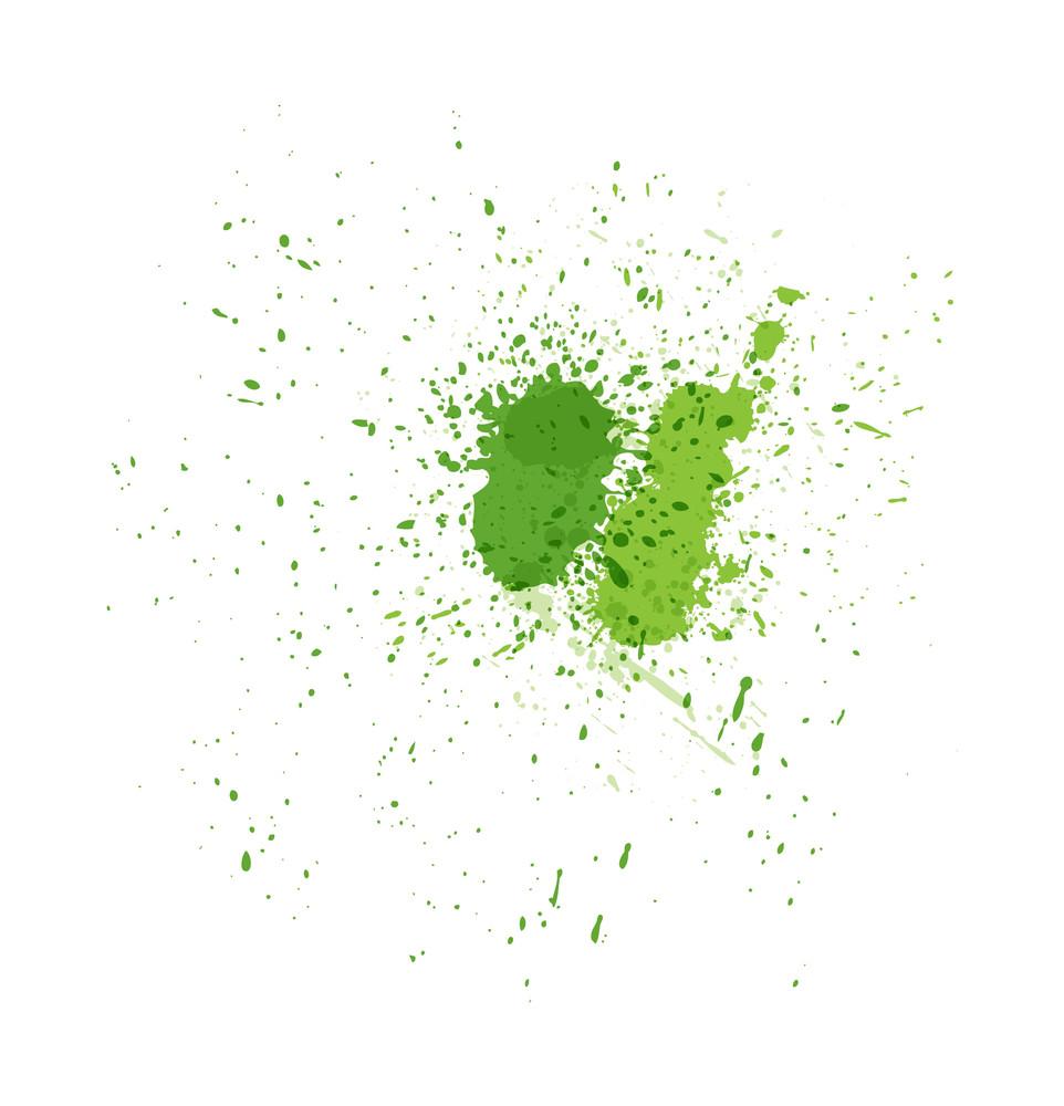 Grunge Green Splashes