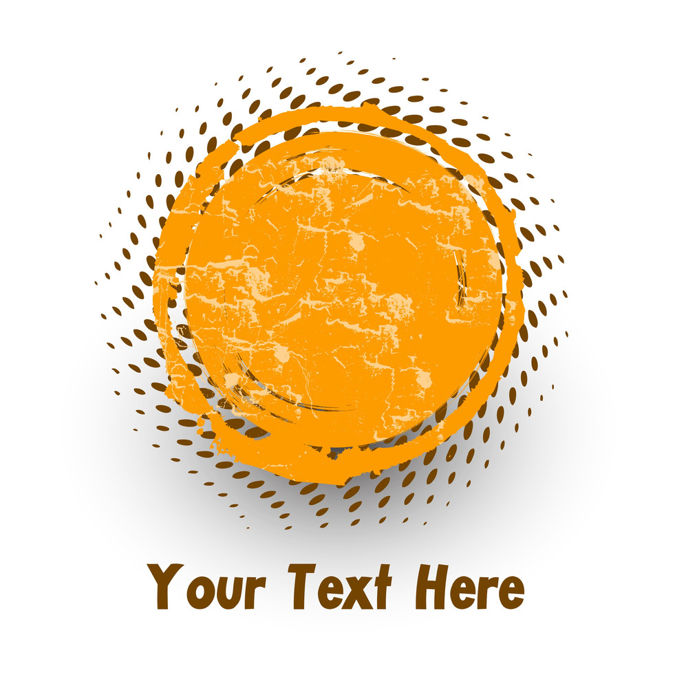 Grunge Halftone Message Banner Vector