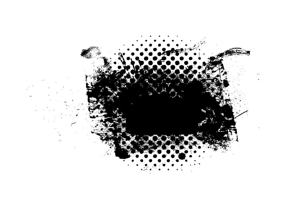 Grunge Halftone Texture Banner