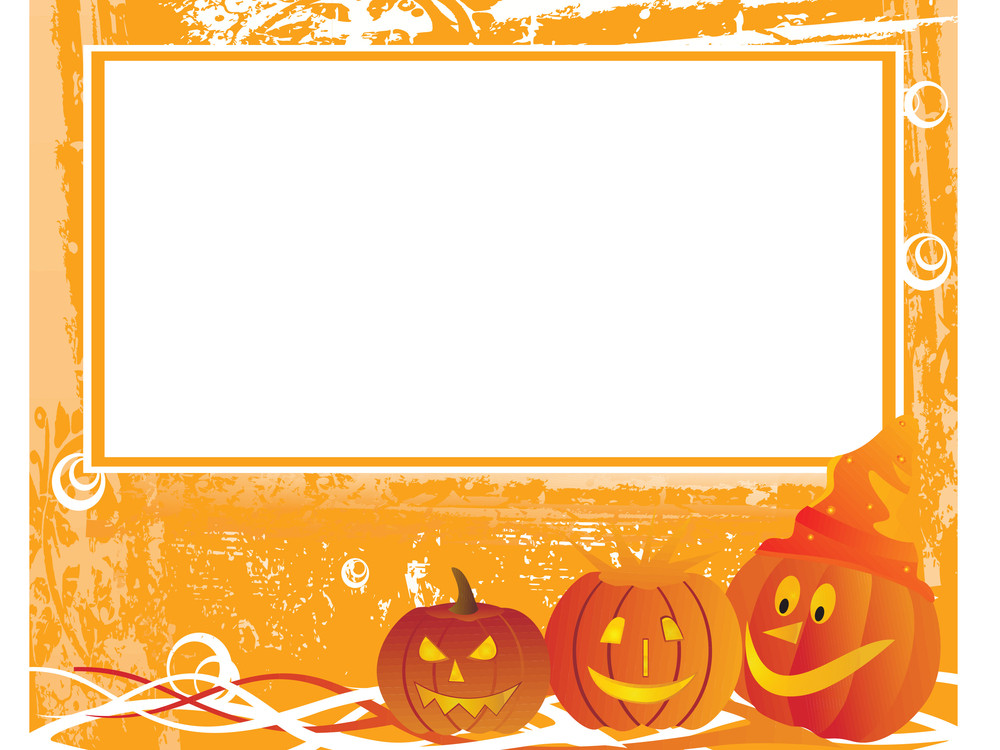Grunge Halloween Background With Frame
