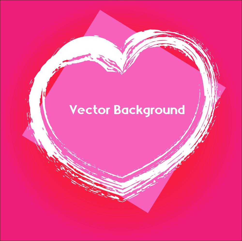 Grunge Heart Banner Background