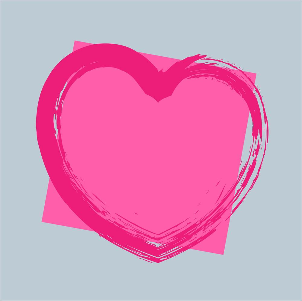 Grunge Heart Frame Banner Design