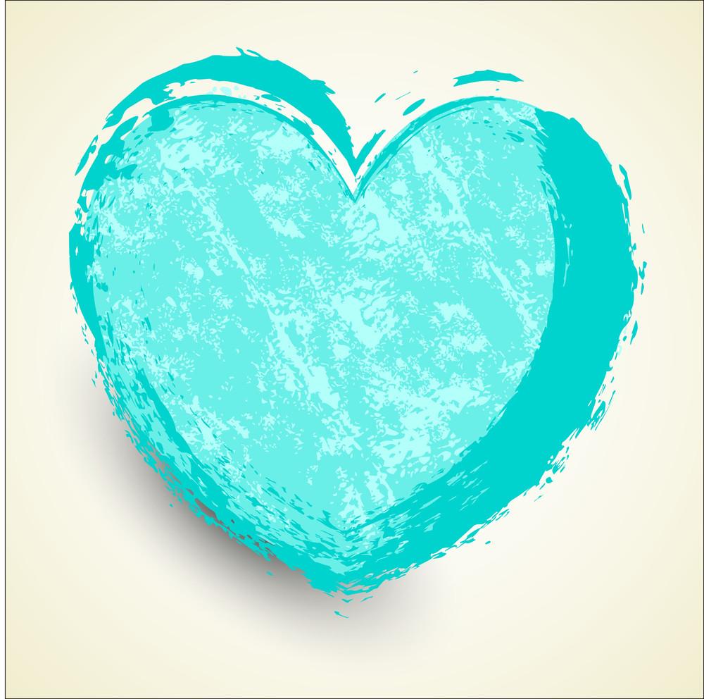 Grunge Heart Vector Design