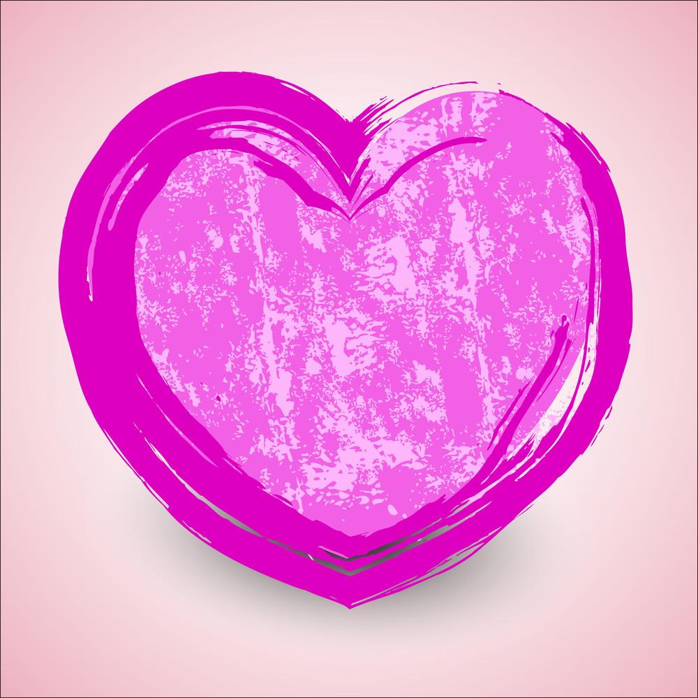 Grunge Heart Vector Frame