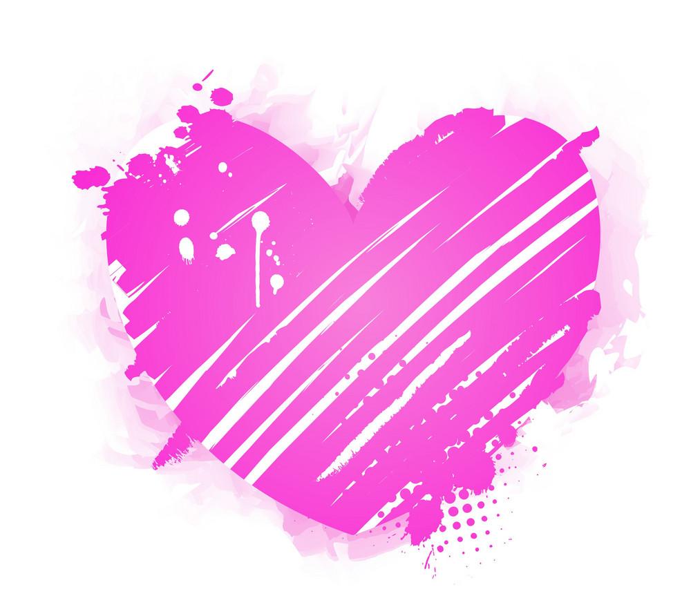 Grunge Heart Vector Illustration
