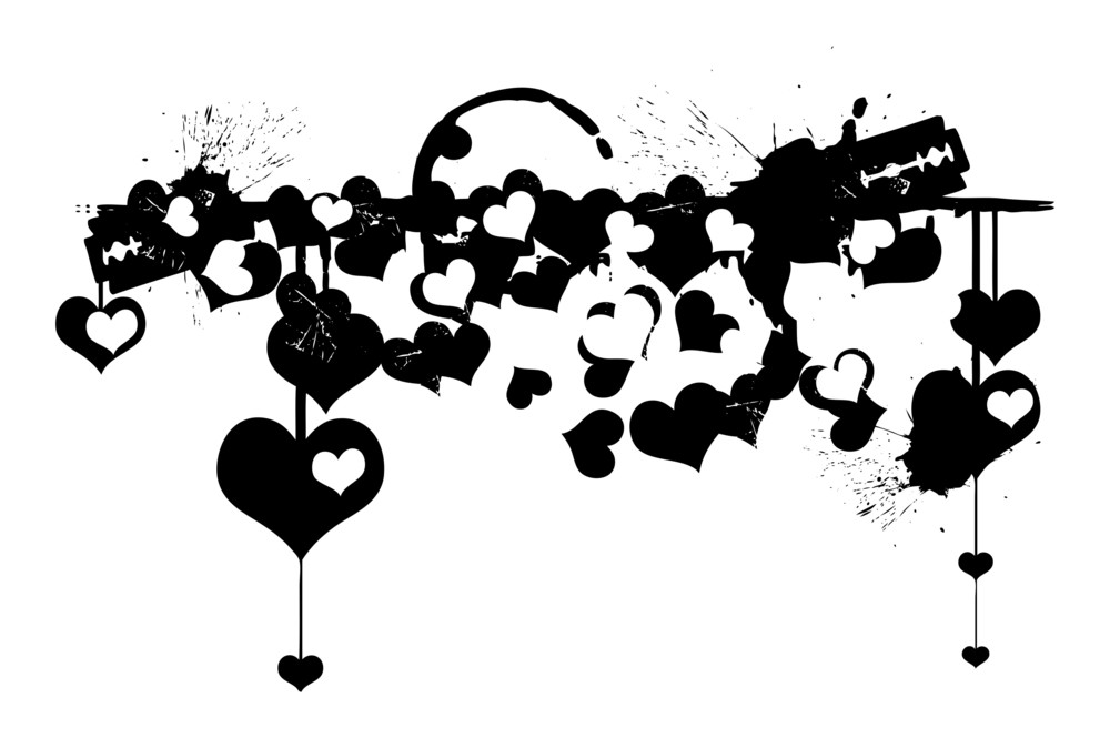 Grunge Hearts Backdrop