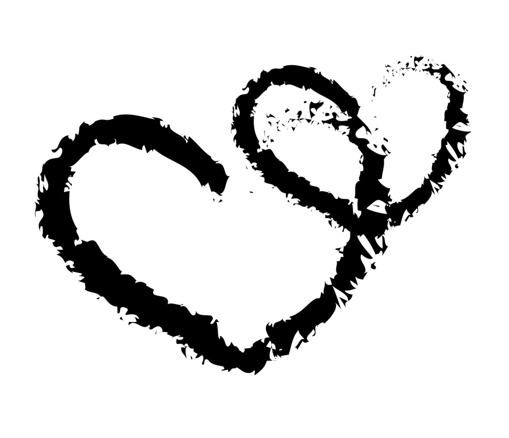 Grunge Hearts Shapes Background